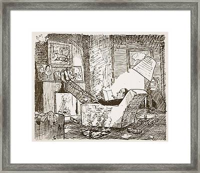 The Bachelor, Illustration From Pont An Framed Print