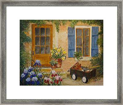 Framed Print featuring the painting The Back Door by Marilyn Zalatan