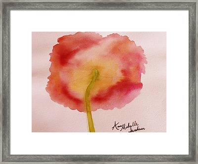 The Back Side Of A Poppy Framed Print