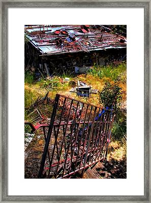 The Back Stairway Framed Print