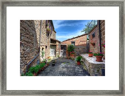 Framed Print featuring the photograph The Backyard by Uri Baruch
