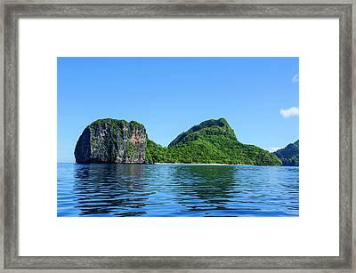 The Bacuit Archipelago, Palawan Framed Print by Michael Runkel