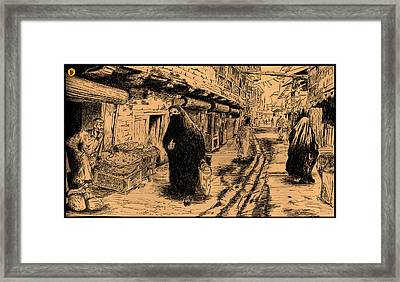 The Baghdad Street Framed Print