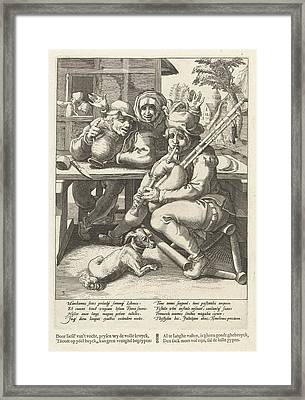 The Bagpipe Gives No Sound, Only When Full Framed Print
