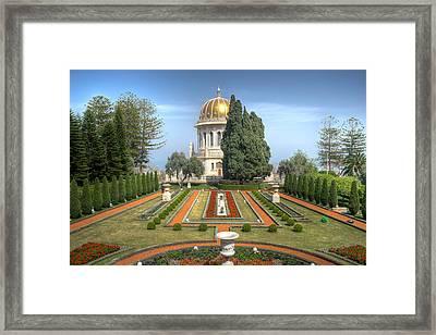 The Bahai Gardens Framed Print