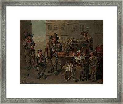 The Bakers Cart Framed Print by Jean Michelin