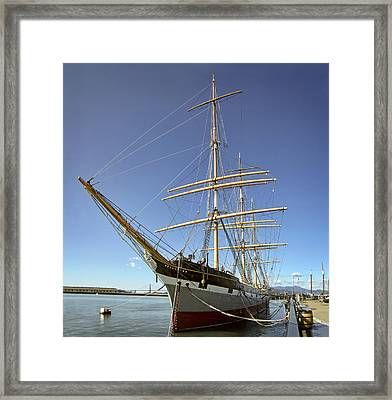 The Balclutha Historic 3 Masted Schooner - San Francisco Framed Print by Daniel Hagerman