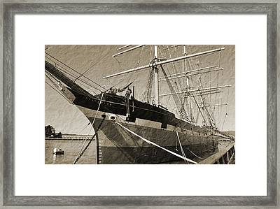 The Balclutha Framed Print by Holly Blunkall