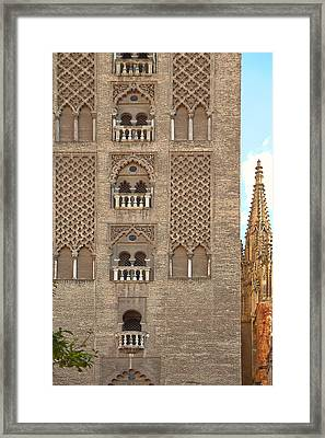 The Balconies Of Seville Cathedral Belfry Framed Print by Viacheslav Savitskiy
