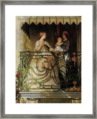 The Balcony Framed Print by Gustave de Jonghe