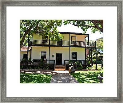 The Baldwin House In Lahaina I Framed Print by Kirsten Giving