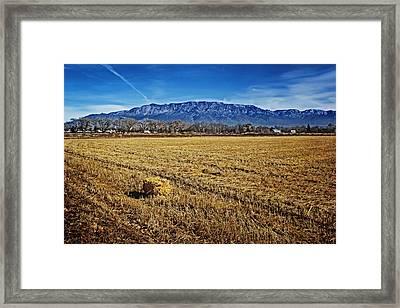 The Bale - Sandia Mountains - Albuquerque Framed Print by Nikolyn McDonald