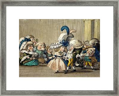The Ball, C.1790 Framed Print by Carlo Lasinio