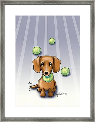 The Ball Catcher Framed Print