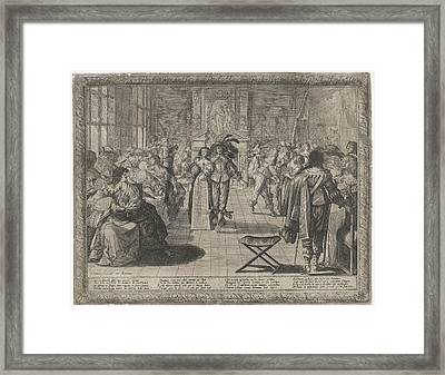 The Ball, Interior With Elegant Company Framed Print