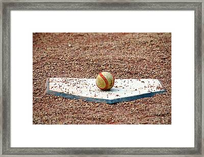 The Ball Of Field Of Dreams Framed Print by Susanne Van Hulst