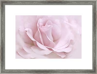 The Ballerina Pink Rose Flower Framed Print by Jennie Marie Schell