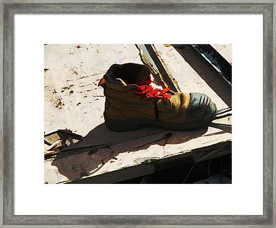 The Ballet Boot Framed Print by Steve Taylor