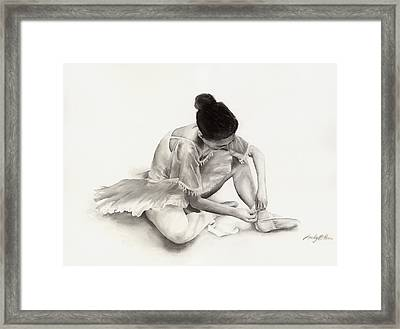 The Ballet Dancer Framed Print by Hailey E Herrera