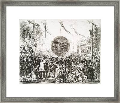 The Balloon (1862) By Edouard Manet Framed Print by Miriam And Ira D. Wallach Division Of Art, Prints And Photographs