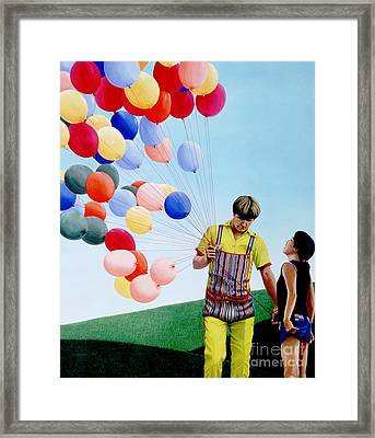 The Balloon Man Framed Print by Michael Swanson
