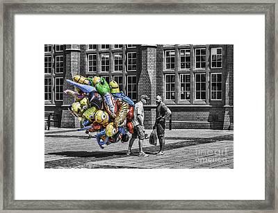 The Balloon Seller Popped Framed Print