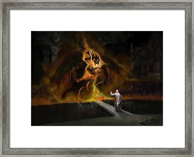 The Balrog Framed Print