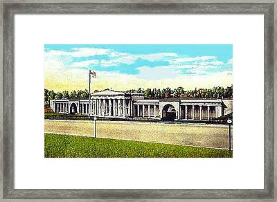 The Baltimore Md Stadium In 1925 Framed Print by Dwight Goss