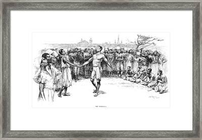 The Bamboula, 1885 Framed Print