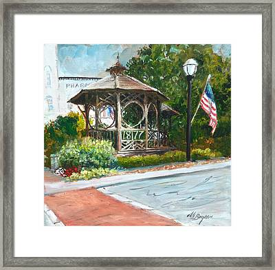 The Bandstand In Triangle Park Chagrin Falls Framed Print
