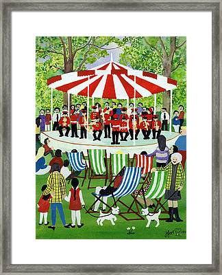The Bandstand Framed Print by Judy Joel