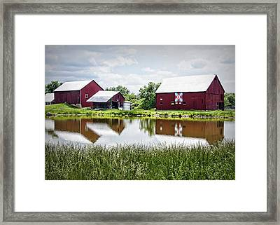 The Bandstand Quilt Barn Framed Print by Cricket Hackmann
