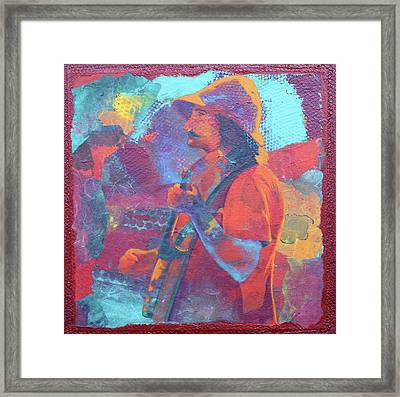 Framed Print featuring the painting The Banjo Player by Nancy Jolley