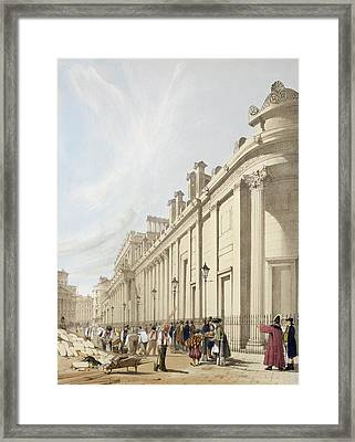 The Bank Of England Looking Towards Framed Print by Thomas Shotter Boys
