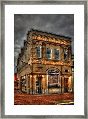 Stability And Instability 1904 Bank Building Eatonton Georgia Framed Print by Reid Callaway