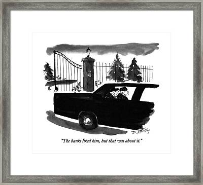 The Banks Liked Framed Print by Donald Reilly