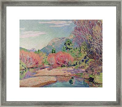 The Banks Of The Sedelle At Crozant Framed Print by Jean Baptiste Armand Guillaumin