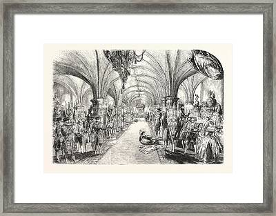 The Banquet In The Crypt Framed Print by English School