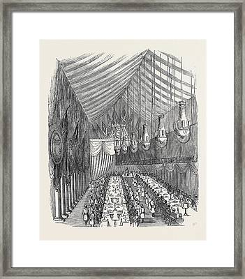 The Banquet In The Hall Framed Print by English School
