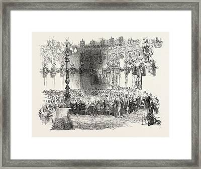 The Banquet In The Kings Room, Mansion House Dublin Framed Print by Irish School