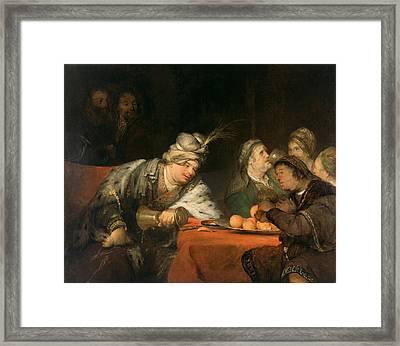 The Banquet Of Ahasuerus Framed Print