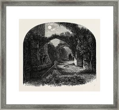 The Banqueting Hall, Conway Castle, North Wales Framed Print by English School