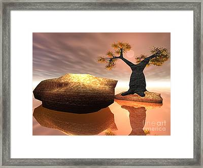 Framed Print featuring the digital art The Baobab Tree by Jacqueline Lloyd