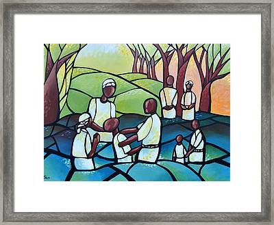 The Baptism Framed Print by AC Williams