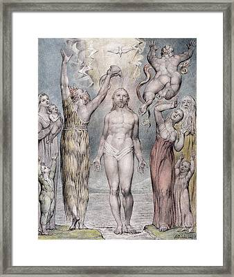 The Baptism Of Christ Framed Print by William Blake