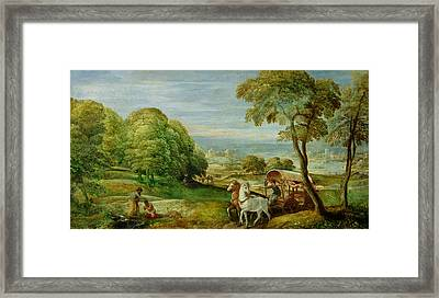 The Baptism Of The Ethiopian Eunuch Framed Print