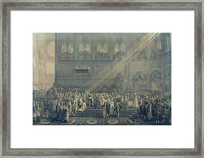 The Baptism Of The King Of Rome 1811-32 At Notre-dame, 10th June 1811, After 1811 Engraving Framed Print by French School
