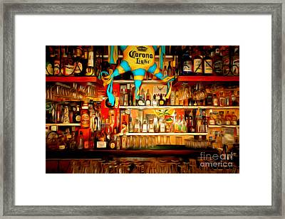 The Bar 7d14187brun Framed Print