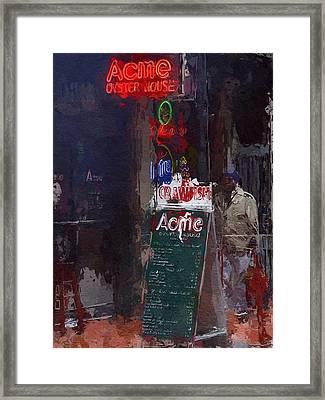 The Bar Framed Print by Steve K