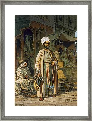 The Barber Framed Print by Amadeo Preziosi